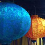 Lồng Đèn Hội an được làm từ 100% vải lụa tơ tằm chính gốc Hội an
